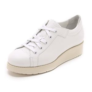 ACNE Studios Kobe White Wedge Sneakers - 38